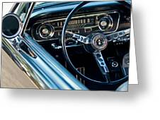 1965 Shelby Prototype Ford Mustang Steering Wheel Emblem Greeting Card