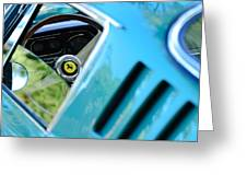 1966 Ferrari 275 Gtb Steering Wheel Emblem Greeting Card