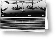 1966 Ford Galaxie 500 Convertible Grille Emblem - Hood Ornament Greeting Card