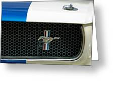 1966 Shelby Gt 350 Grille Emblem Greeting Card
