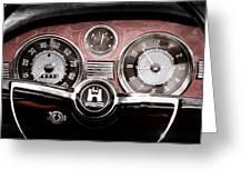 1966 Volkswagen Vw Karmann Ghia Steering Wheel Greeting Card