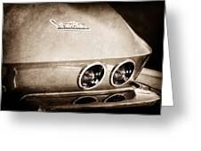 1967 Chevrolet Corvette Taillight Greeting Card