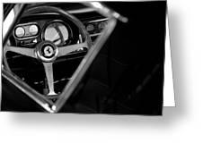 1967 Ferrari 275 Gtb 4 Steering Wheel Emblem Greeting Card by Jill Reger