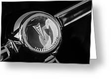 1967 Pontiac Firebird Steering Wheel Emblem Greeting Card