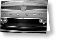 1968 Shelby Gt350 Hood Emblem Greeting Card