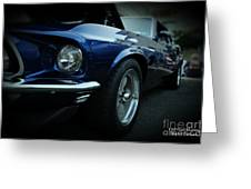 1969 Ford Mustang Mach 1 Fastback Greeting Card