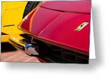 1971 Ferrari 365 Gtb-4 Daytona Spyder Hood Emblem Greeting Card