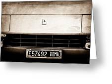 1972 Ferrari 365 Gtb -4a Grille Emblem Greeting Card