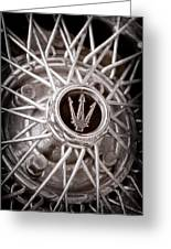 1972 Maserati Ghibli 4.9 Ss Spyder Wheel Emblem Greeting Card