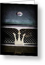1972 Maserati Ghibli Grille - Hood Emblems Greeting Card