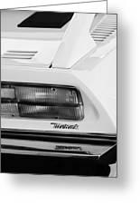 1974 Maserati Merak Taillight Emblem -1265bw Greeting Card