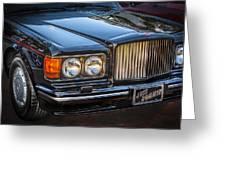 1990 Bentley Turbo R Greeting Card