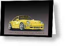 1997 Porsche  993 Twin Turbo Greeting Card