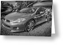 2006 Mitsubishi Eclipse Gt V6 Painted Bw Greeting Card