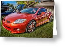 2006 Mitsubishi Eclipse Gt V6 Painted Greeting Card