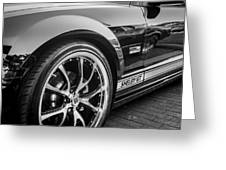 2007 Ford Mustang Shelby Gt Painted Bw   Greeting Card
