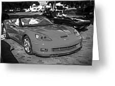 2010 Chevrolet Corvette Grand Sport Bw  Greeting Card