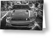 2013 Ford Mustang Gt Cs Painted Bw Greeting Card
