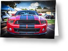 2013 Ford Shelby Mustang Gt500 Greeting Card