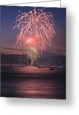2014 4th Of July Firework Celebration.  Greeting Card