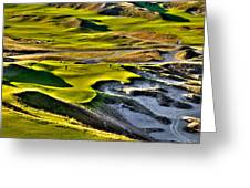 #9 At Chambers Bay Golf Course Greeting Card by David Patterson