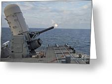 A Close-in Weapons System Is Fired Greeting Card
