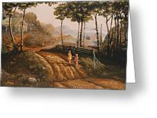 A Country Lane Greeting Card