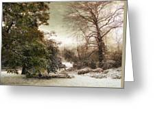 A Dusting Of Snow Greeting Card