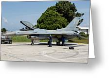 A Hellenic Air Force F-16c Block 52+ Greeting Card
