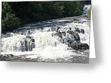 A Lovely View Of A Falls On Kayaderosseras Creek Greeting Card