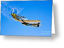 A North American P-51d Mustang Greeting Card