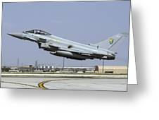 A Royal Air Forcetyphoon Fgr4 Taking Greeting Card