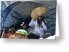 A View Of Carlinhos Brown At The 2009 Cleansing Of 46th Street Greeting Card
