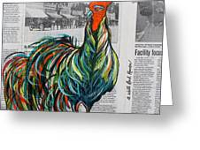 A Well Read Rooster Greeting Card