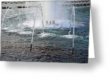 A World War Fountain Greeting Card