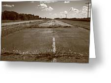 Abandoned Route 66 Greeting Card