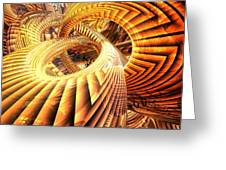 Abstract That Twisted Escher Fx  Greeting Card