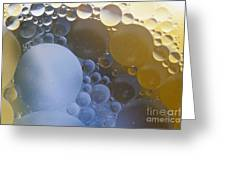 Abstraction Oil Bubbles In Water Greeting Card