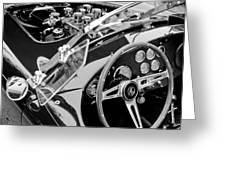 Ac Shelby Cobra Engine - Steering Wheel Greeting Card