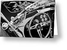 Ac Shelby Cobra Engine - Steering Wheel Greeting Card by Jill Reger