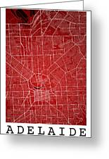 Adelaide Street Map - Adelaide Australia Road Map Art On Colored Greeting Card