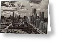 Aerial Chicago At Millennium Park Greeting Card