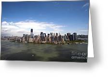 2-aerial View Of Manhattan Greeting Card