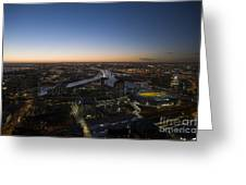 Aerial View Of Melbourne Greeting Card