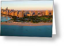 Aerial View Of North Avenue Beach Greeting Card