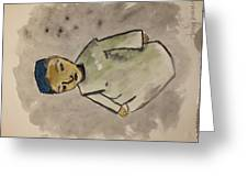 Afghan Village Boy  Greeting Card