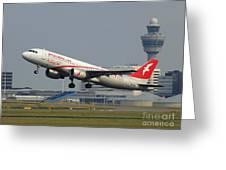 Air Arabia Maroc Airbus A320 Greeting Card