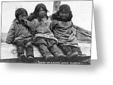 Alaska Eskimo Children Greeting Card