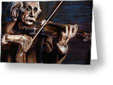 Albert Einstein And Violin Greeting Card