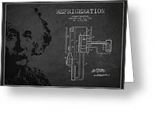 Albert Einstein Patent Drawing From 1930 Greeting Card